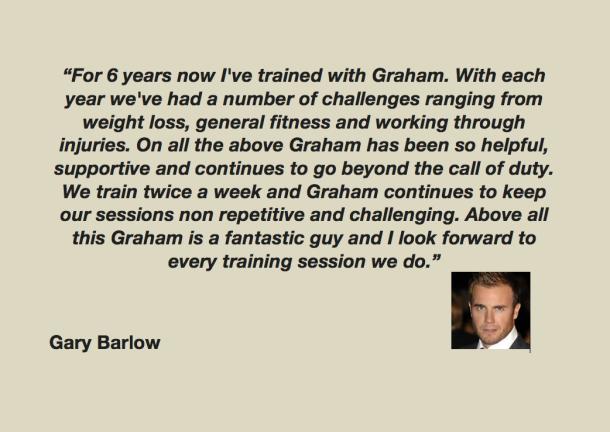 Gary Barlow testimonial