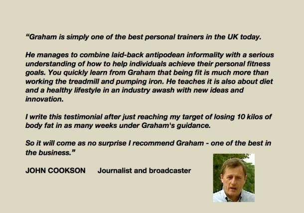 John Cookson testimonial
