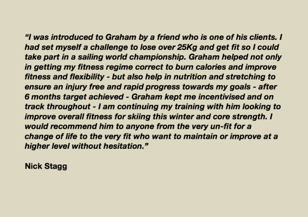 Nick Stagg testimonial